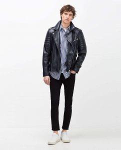 Chiodo di pelle Zara 2016