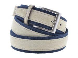 Cintura tela e camoscio beige e blu 2016