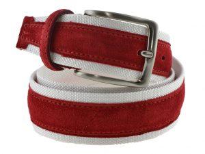 Cintura tela e camoscio rossa e bianca 2016