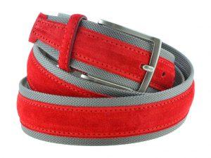Cintura tela e camoscio rossa e grigia 2016