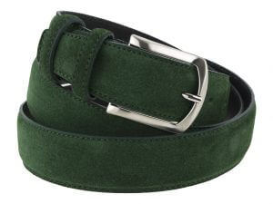 Cintura uomo in camoscio verde