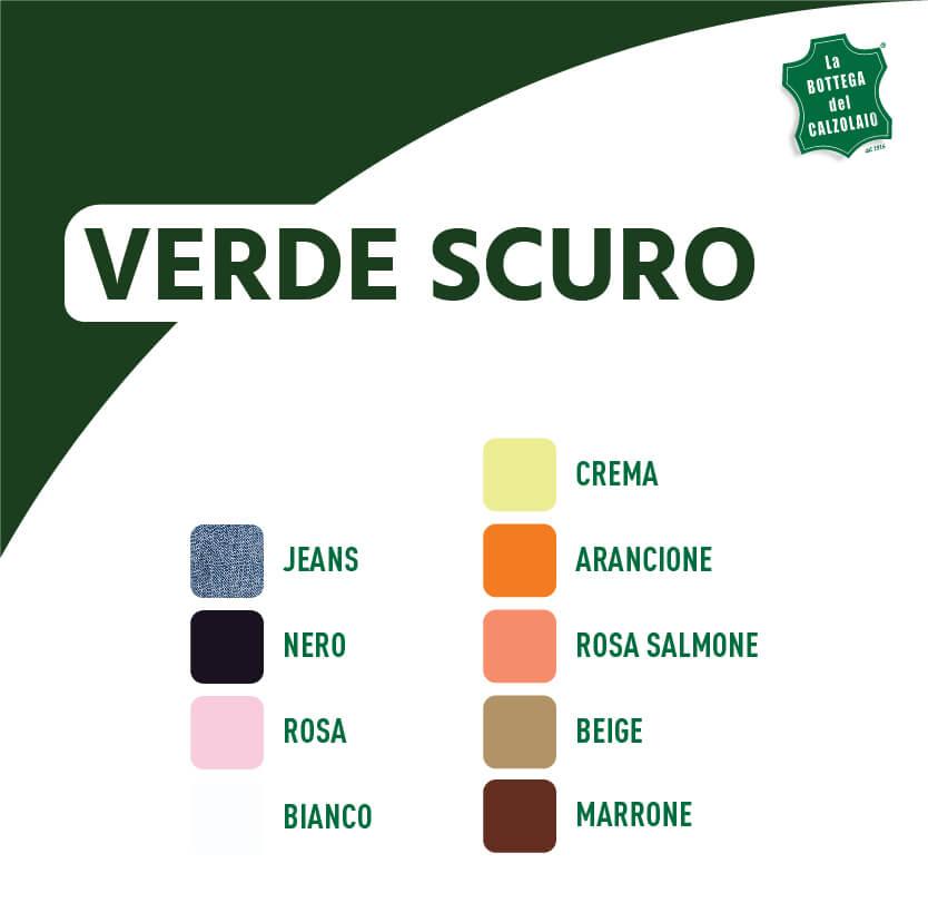 Abbinamento colori verde scuro