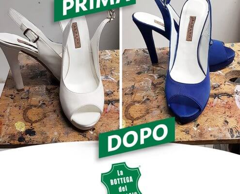 colorare scarpe sposa