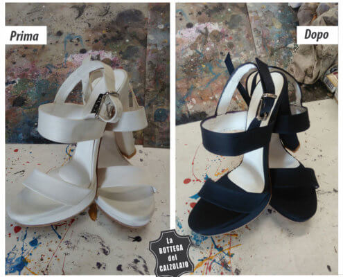 tingere scarpe sposa