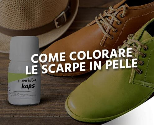 colorare scarpe in pelle