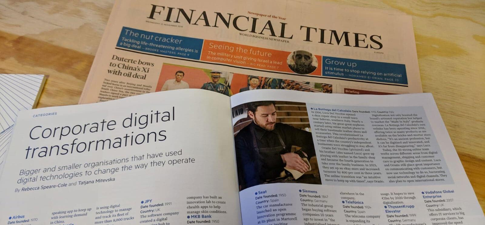 La Bottega del Calzolaio top 100 in Europa per il Financial Times