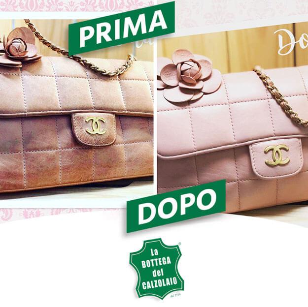 b36bb91837 riparazione borse pelle restauro borse vintage Chanel ...